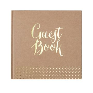 Kraft and Gold Hardbacked Guest Book